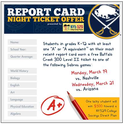 Sabres Report Card Night